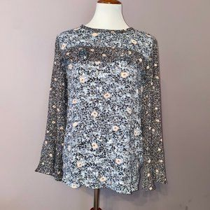 Loft | Floral Print Long Sleeve Blouse